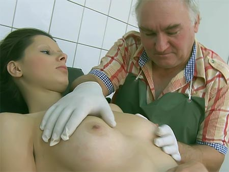 Bashful Nubile Humped Via Older Doc