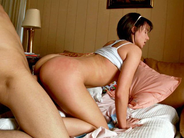Brown-haired Teenie Minx Malica Getting Fleshy Vagina Boned Rear End By Means Of A Lengthy Man Meat